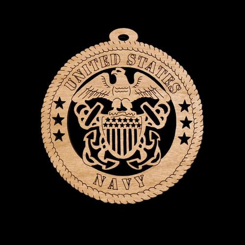 Wooden Navy Ornament