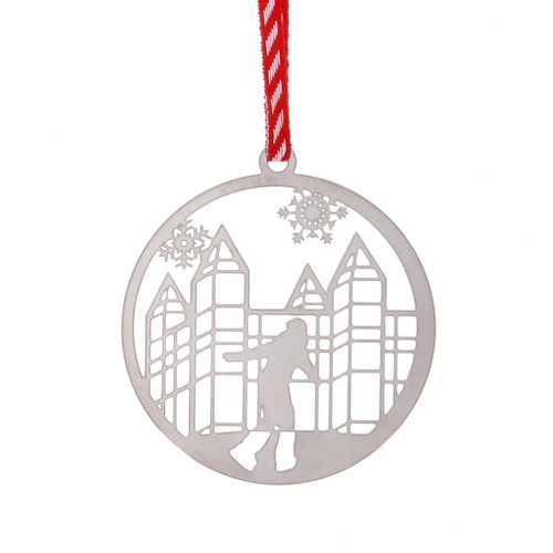 Pittsburgh Ice Skater Cutout Ornament