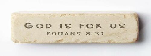 If God is For Us Scripture Stone