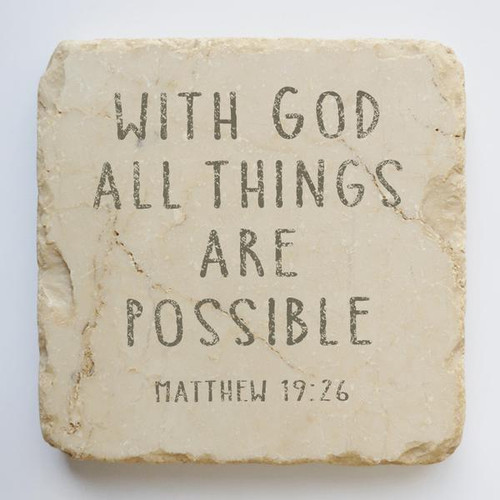 All Things Possible Small Scripture Stone