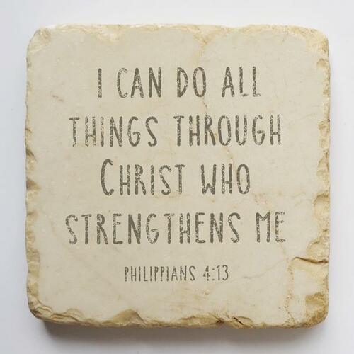 I Can Do All Things Small Scripture Stone