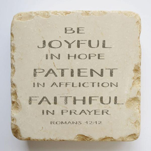 Joyful Patient Faithful Small Scripture Stone
