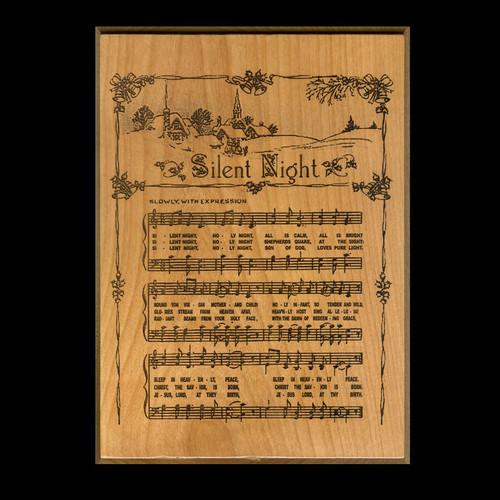 Silent Night Hymn Plaque