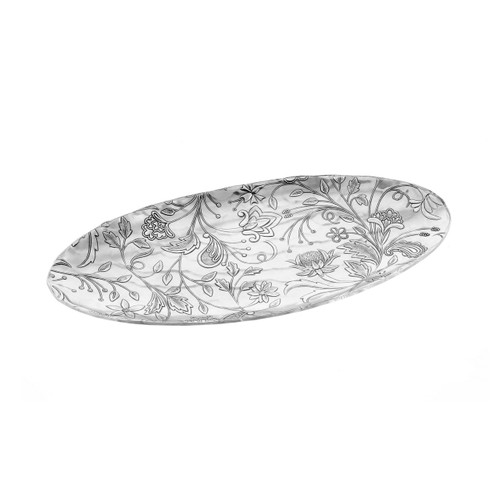 Small Tracery Murano Tray, serveware, entertaining, cheese tray, cookie tray, wedding gift, gifts