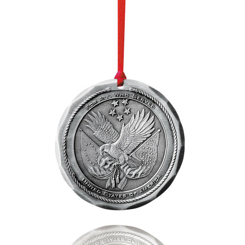Military Veteran Commemorative Christmas Ornament - Military Veteran Christmas Ornament Wendell August Ornaments
