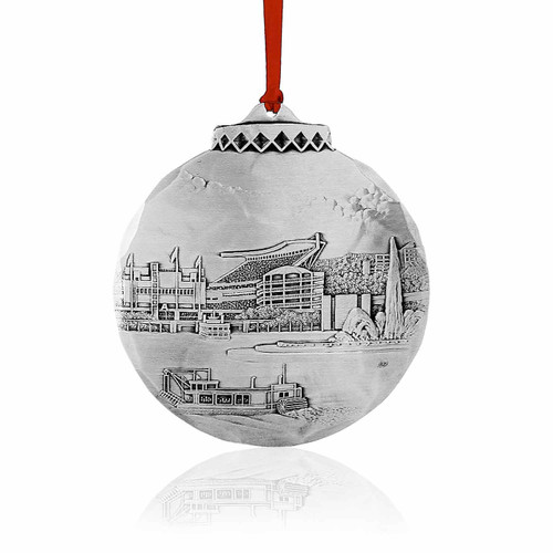 Heinz Field by Linda Barnicott - Pittsburgh Christmas Ornament, Heinz Field By Linda Barnicott