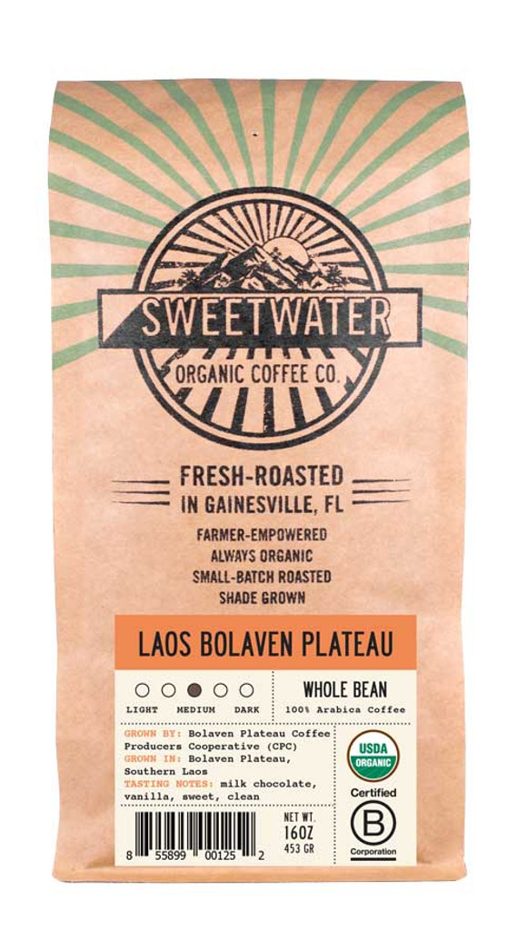 Laos Full City Roast Fair Trade Organic Coffee
