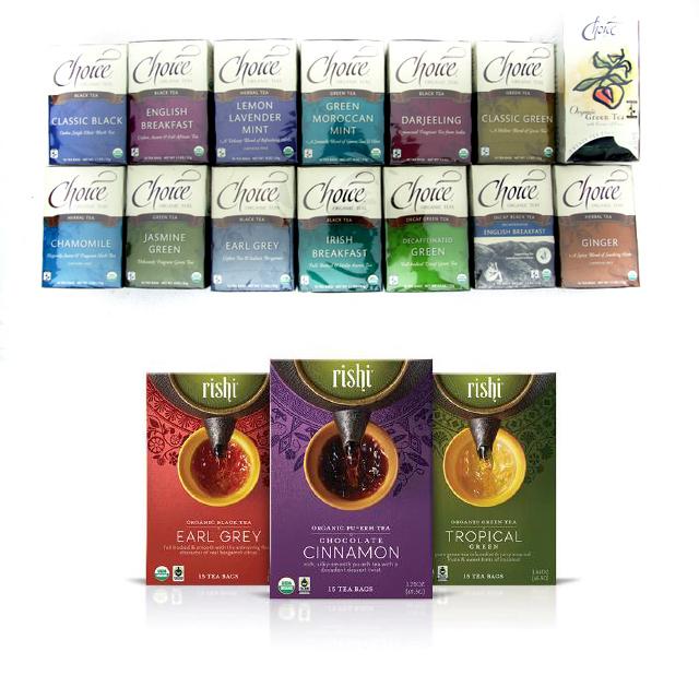 Wholesale Choice and Rishi Organic Teas