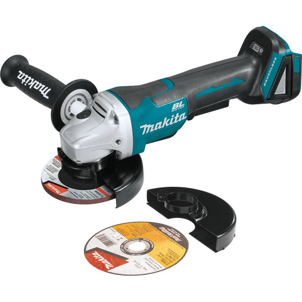 """18V LXT Lithium-Ion Brushless Cordless 4-1/2IN / 5"""" Paddle Switch Cut-Off/Angle Grinder, with Electric Brake, Tool Only"""