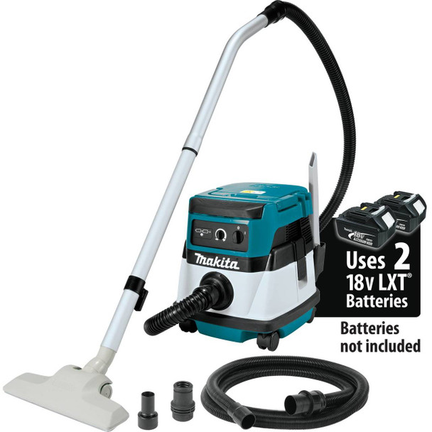 18V X2 LXT Lithium-Ion (36V) Cordless/Corded 2.1 Gallon HEPA Filter Dry Dust Extractor/Vacuum, Tool Only