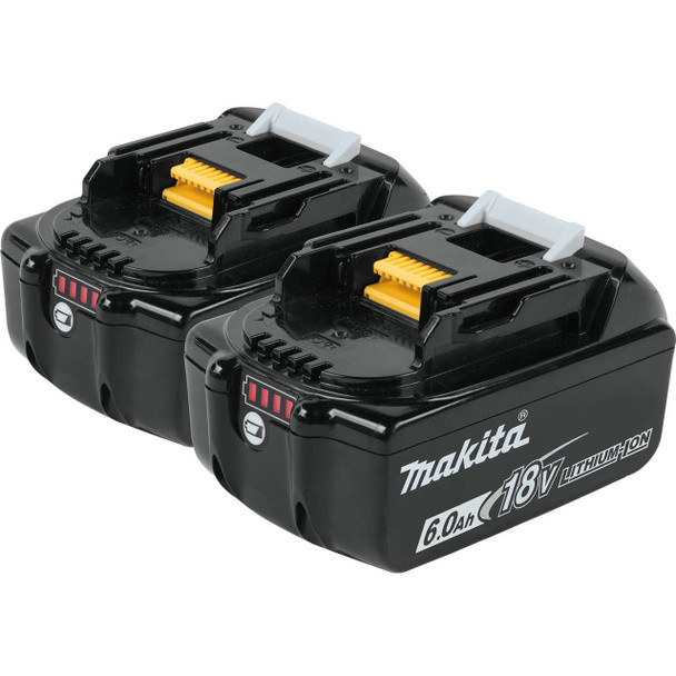 18V LXT Lithium-Ion 6.0Ah Battery, 2/pk