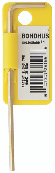 """.028"""" Goldguard Plated Hex L-Wrench - Long    Tagged/Barcoded - 38100 - Quantity: 10"""