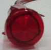 indicator light, 14 volt, wings, red, LED, wire leads, semi dome rings lens