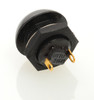 push button, flush black, normally open, otto, momentary, switch, P9, single pole, P9-111122