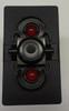 VJD2UCCB- On-Off-On Carling V series rocker switch, 2 Ind Red Leds