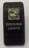 Carling VVA9C00-5XX/Docking Lights Black Switch Cap with Docking Lights Icon on white square lens, words on body