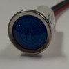 indicator light, 125 volt, led, blue, wire leads, half inch mounting, 1092D6-125VAC
