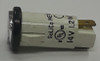 3035-3-13-37660 White 14 Volt Solico Round Indicator Light with Spade Terminals