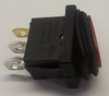 Red Sealed Miniature Illuminated Rocker Switch, 12 Volt Red LED KCD1-2-101NW-C3-RB-12V
