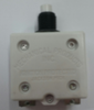 """mechanical products, 30 amp, push to reset, circuit breaker, 3/8""""-27 bushing, #6-32 screw terminals bent 90 degrees, 1680-082-300"""