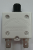 """mechanical products, 17 Amp, Circuit Breaker, Push to Reset, 250 tabs, 3/8-27"""" plastic bushing, white flush button, 1680-264-170"""