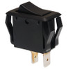 appliance size rocker switch, momentary, single pole, black, quick connects, spring return to off position