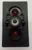 V1D1GCCB, switch, marine, auto, rocker, on-off, single pole, sealed, Carling, V Series, two lamps, lit switch, LED, RCV-37112448