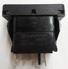switch, marine, auto, rocker, on-on, single pole, sealed, Carling, V Series, 2 independent lamps, raised bracket, V4D1WHH1