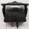 V6D1D66B, switch, marine, auto, rocker, on-off-on, single pole, sealed, Carling, V Series, two dependent lamps