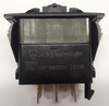 Carling rocker switch, double pole, double momentary, spring return to off position, V Series, no lamps,  VLD2S00B