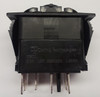 VSD1160B Carling V Series Rocker Switch, Single pole, triple throw, On-on-on, independent lamp