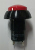 Otto P3-D211121, Push button switch, red raised dome button, Normally open