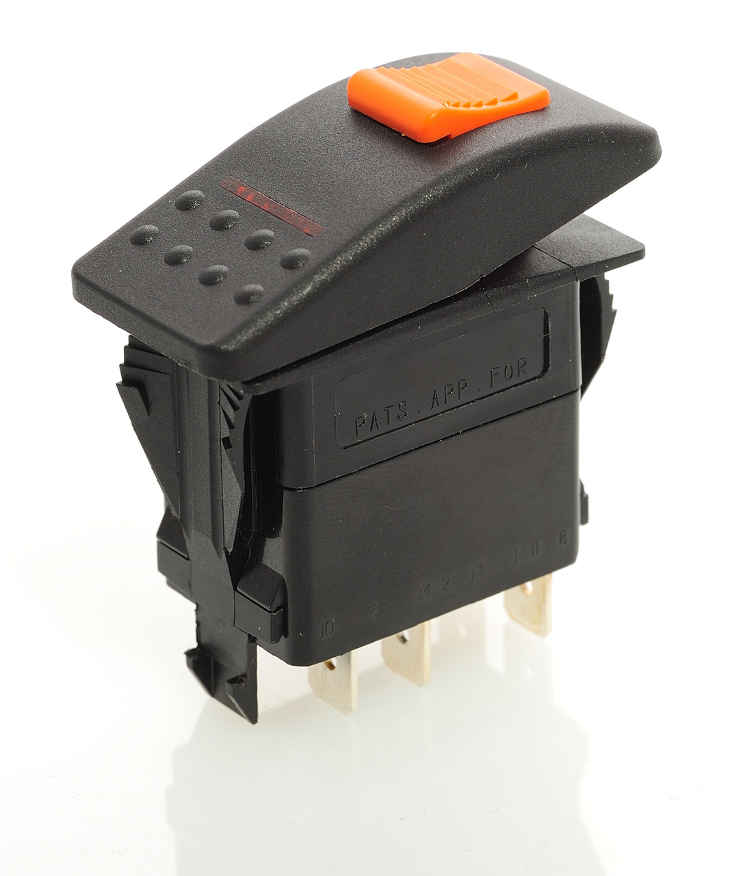 Light Pole Nut Covers: Locking Rocker Switch, Carling V1D2HW6B-ADE00-000