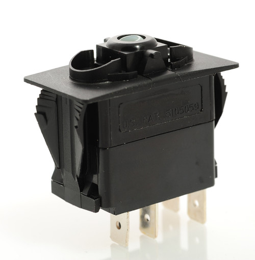 carling, rocker switch, v series, blue led, momentary, V2D1AX0B, independent lamp
