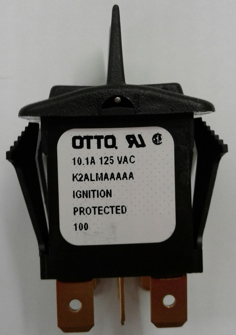 K2ALMAAAAA Otto K2 Series Sealed Rocker Switch, Spring Return to Center Off Position