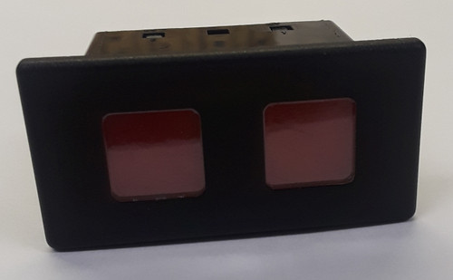 VP166-B22SS-00000 Carling 12 Volt Incandescent Rectangular Red Indicator Light