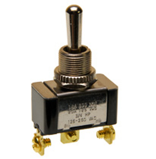 single pole on-off-on toggle switch, screw terminals