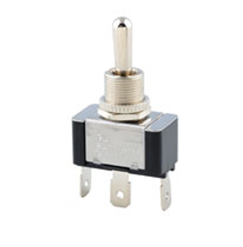 1187-Q/20B On-Off-On Toggle Switch, Single Pole, 20 amps, Spade terminals