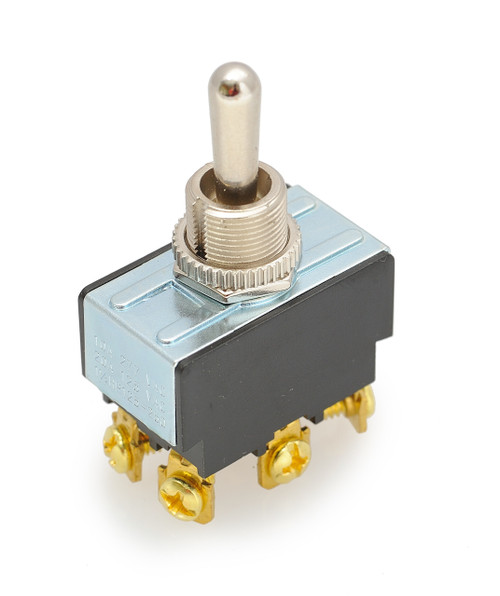 toggle switch, double pole, screw terminals, double momentary