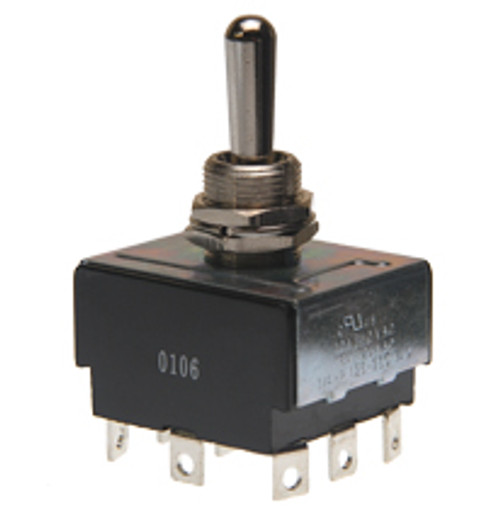 toggle switch, 3 pole, on off on, solder terminals