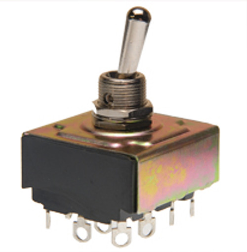 4 Pole Toggle Switch On-On Solder Terminals