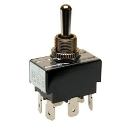 Toggle Switch Double Pole On-Off-Momentary On Quick Connect