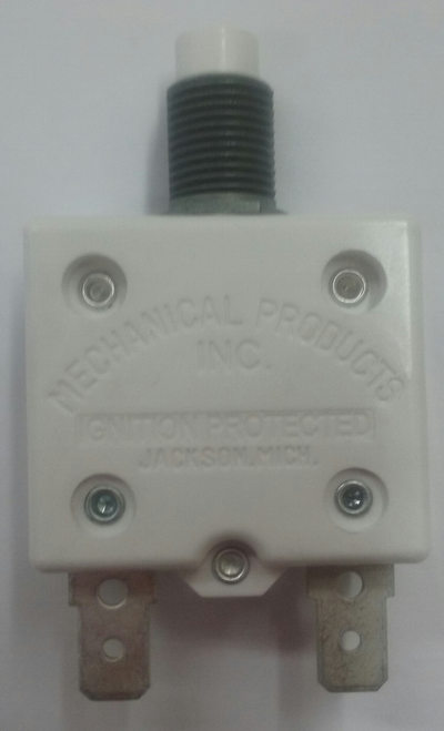 mechanical products 5 amp push to reset circuit breaker, quick connect terminals, 1600-037-050