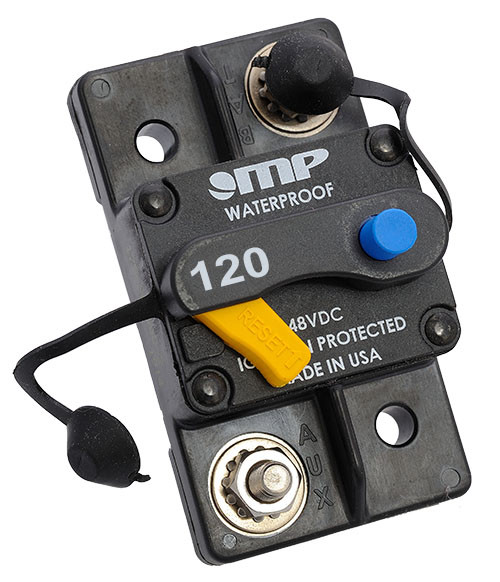 Mechanical Products Type 3 Manual Reset 120 amp Breaker 175-S0-120-2