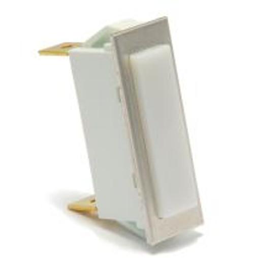 rectangular indicator light, 14 volt incandescent, quick connects, white translucent lens, 3335-4-41-18160