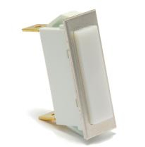 rectangular indicator light, 14 volt incandescent, quick connects, white translucent lens, 3335-4-41-18160