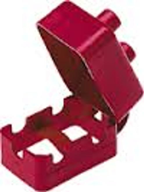 circuit breaker boot, pvc, red, protective cover for two post breakers