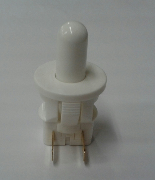 811-9016 EMB Plunger Switch, Normally Closed, White, Button Plunger