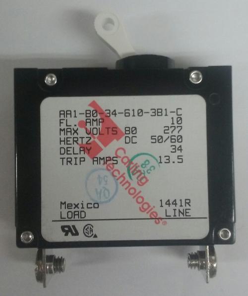 AA1-B0-34-610-3B1-C Carling A Series Single Pole Circuit Breaker 10 Amps