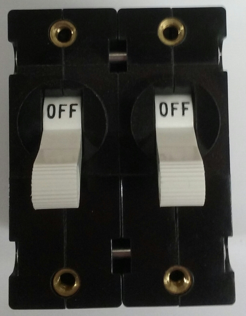 Carling Technologies Circuit breaker, 30 amp, A Series, double pole, magnetic, screw terminals AA2-B0-34-630-4B1-C